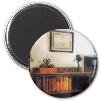 Eye Doctor's Office With Diploma 2 Inch Round Magnet