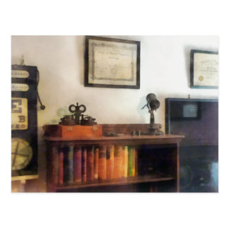 Eye Doctor's Office With Diploma Postcard