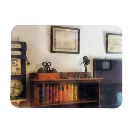 Eye Doctor's Office With Diploma Vinyl Magnet