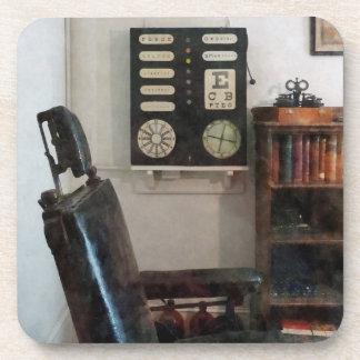 Eye Doctor's Office With Eye Chart Coaster