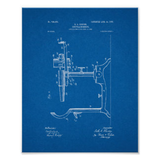 Eye Doctor's Ophthalmoscope Patent - Blueprint Poster