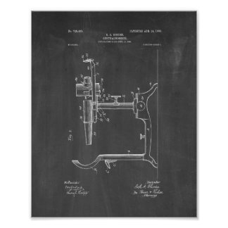 Eye Doctor's Ophthalmoscope Patent - Chalkboard Poster