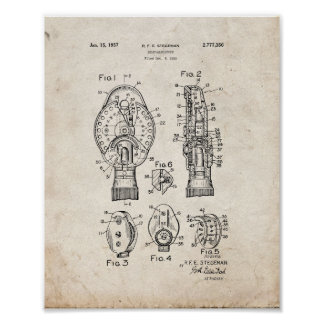 Eye Doctor's Ophthalmoscope Patent - Old Look Poster