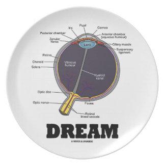 Eye Dream Anatomical Human Eyeball Humor Melamine Plate