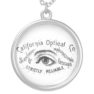 Eye Ephemera Silver Plated Necklace
