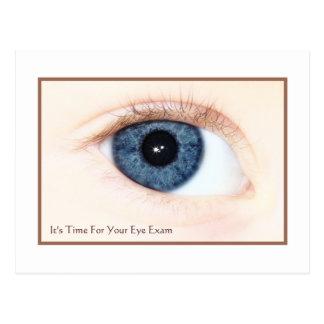 Eye Exam Appointment Reminder Baby Blue Eye Postcard