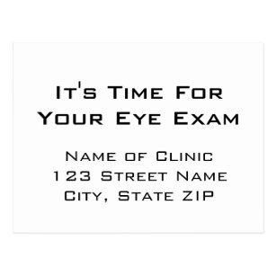 Eye Exam Ointment Reminder Chart Style Postcard