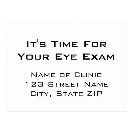 Eye Exam Appointment Reminder Eye Chart Style Postcard Zazzle