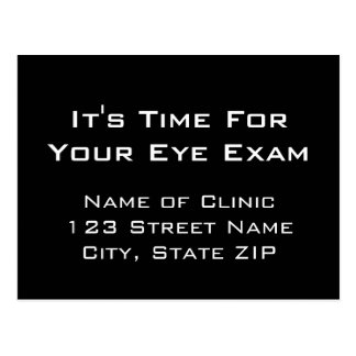 Eye Exam Appointment Reminder From Clinic Postcard