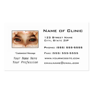 Eye Exam Appointment Reminder Heart Shaped Hands Business Card Templates