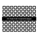 Eye Exam Appointment Reminder Modern Faces Glasses Postcard