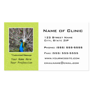 Eye Exam Appointment Reminder - Peacock Eyes Business Cards