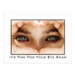 Eye Exam Appointment Reminder Post Cards