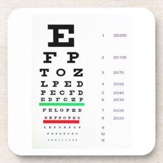 Eye Exam Chart Beverage Coasters