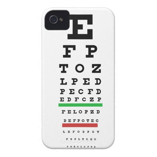 Eye Exam Chart Case Cover iPhone 4 Cover