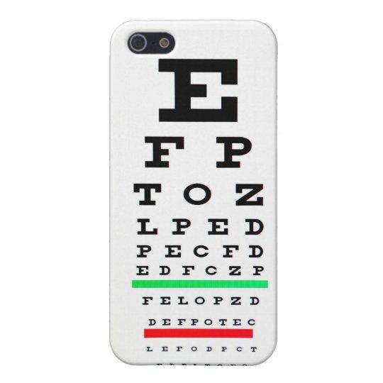 Eye Exam Chart Iphone Case Zazzle