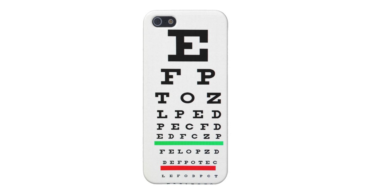 Eye Exam Chart Cover For Iphone Se55s Zazzle