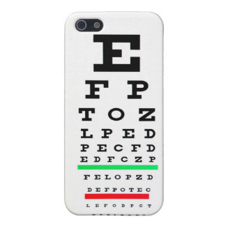 Eye Exam Chart Cover For iPhone 5