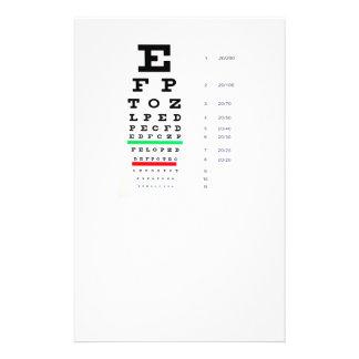 eye exam flyer