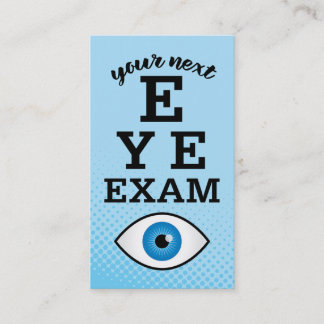 Eye Exam Reminder Appointment Card