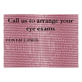 EYE EXAMS..personalized Large Business Card
