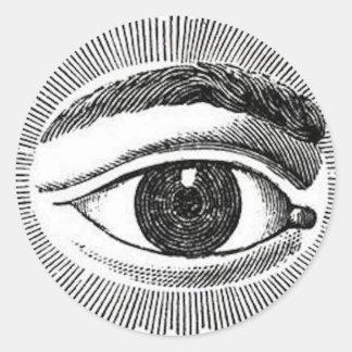 Eye Eye Classic Round Sticker