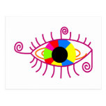 eye eye multicolored colorful postcards