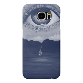Eye. Eyes art eye paint painting picture monochrom Samsung Galaxy S6 Case