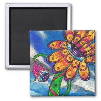 Eye Flower Magnet magnet
