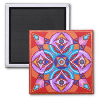 Eye Flower Mandala Fridge Magnet