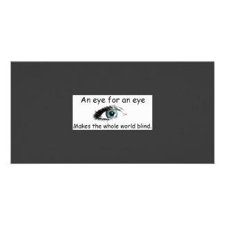 Eye for an eye Photo Card