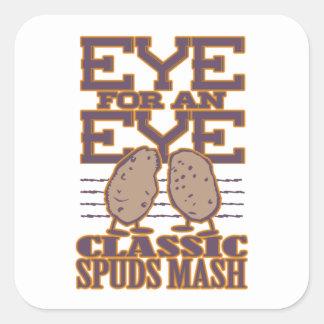 Eye for an Eye Square Sticker