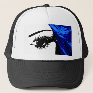 Eye for Fashion Black and White Trucker Hat