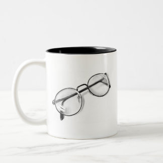 EYE GLASSES IN PENCIL: REALISM: MUG