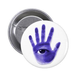 eye hand symbol 2 inch round button