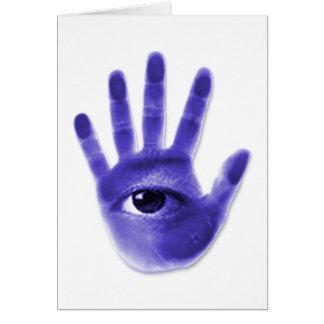 eye hand symbol card