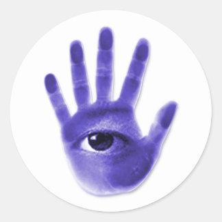 eye hand symbol stickers