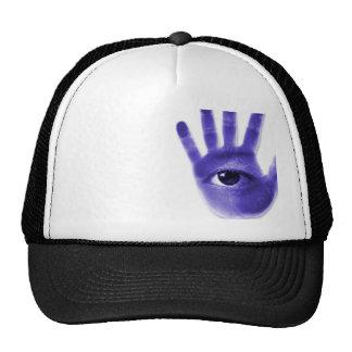 eye hand symbol trucker hat