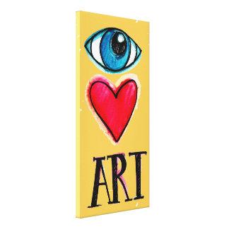 Eye Heart Art Yellow Canvas Print