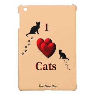 Eye Heart Cats Design iPad Mini Cases