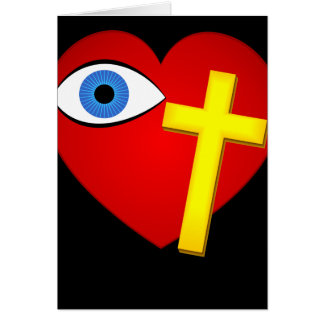 Eye Heart Cross Card