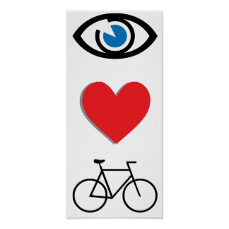 Eye Heart Cycling Poster