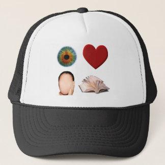 Eye Heart Face Book Trucker Hat