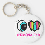 Eye Heart Pictogram, <PERSONALIZE> Keychains