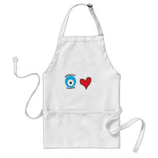eye heart u adult apron