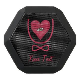 Eye heart U Customizable Text Black Bluetooth Speaker