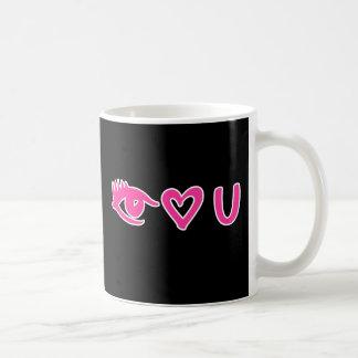 Eye Heart U Pink Coffee Mug