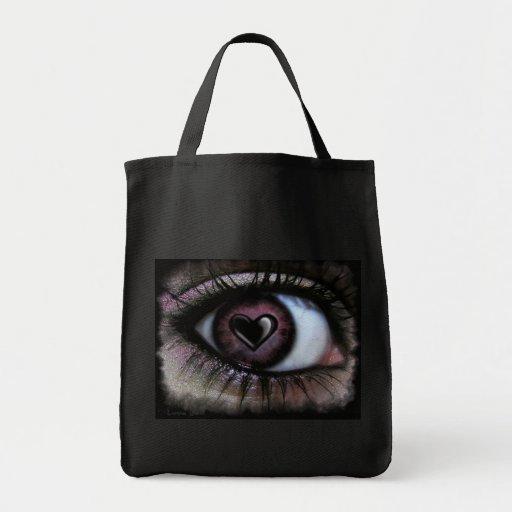 Eye Heart U Tote Grocery Tote Bag