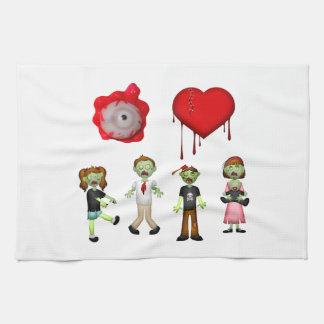 Eye Heart Zombies Hand Towel