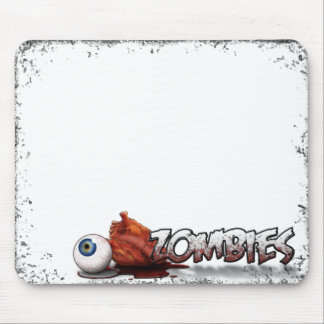 Eye Heart Zombies Mouse Pad